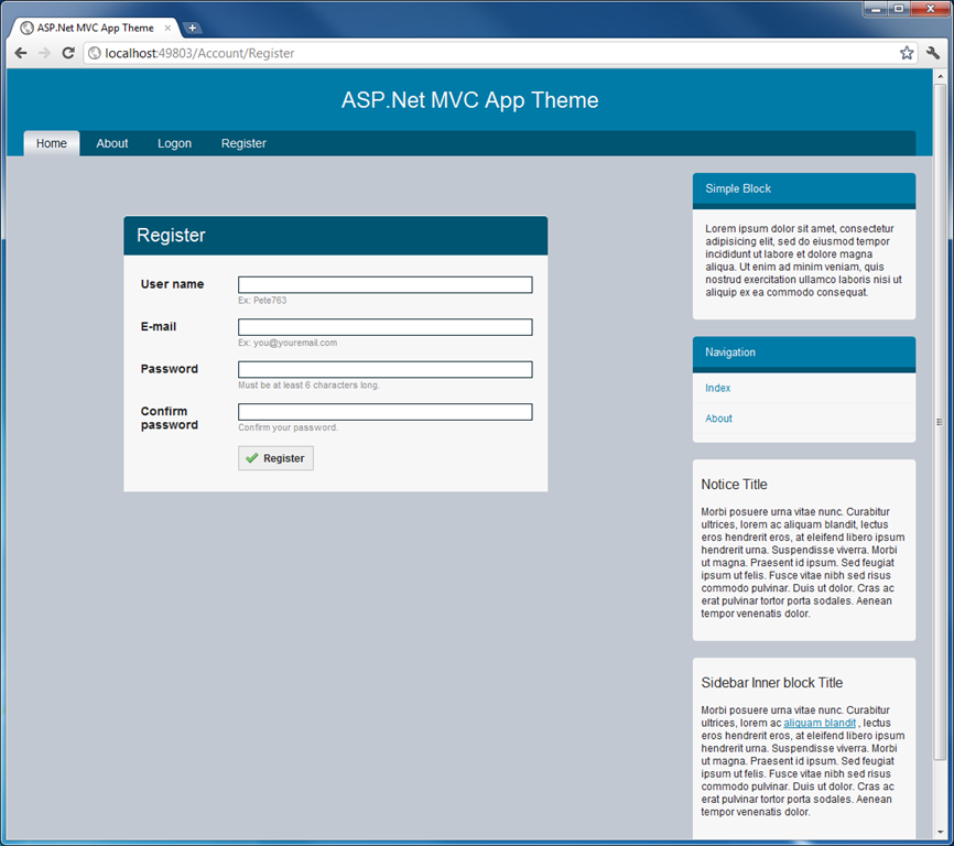 Introducing the MVC Themed Web App Project Template – Mythical Man Moth