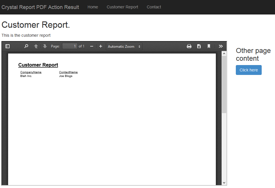 Returning a Crystal report as a PDF ActionResult in ASP Net