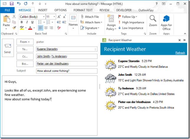 outlook-addin-intergrated-webservice